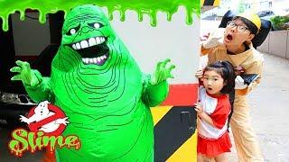 보람이의 슬라임 액체괴물 고스트 버스터즈 놀이 Kids Haunted House Slimer Ghost Busters