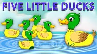 cinq petits canards | chanson bébé | comptine | Five Little Ducks | Toddler Song