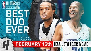 Migos Quavo & Ray Allen Full Highlights at 2019 All-Star Celebrity Game - 51 Pts Total