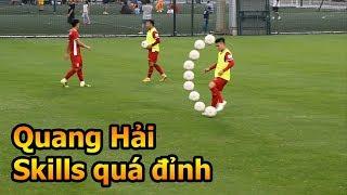 Thử thách bóng đá Quang Hải Bùi Tiến Dũng U23 Việt Nam trổ tài skills như Ronaldo - Đỗ Kim Phúc