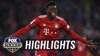Alphonso Davies scores his first Bayern Munich goal | 2019 Bundesliga Highlights