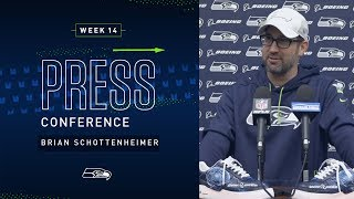 Offensive Coordinator Brian Schottenheimer Week 14 Press Conference | 2019 Seattle Seahawks