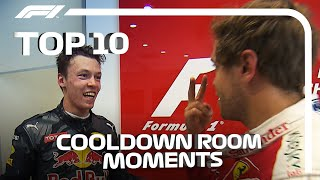 Top 10 Cool Down Room Moments In F1