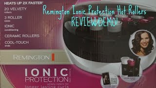 Remington Ionic Protection Hot Rollers REVIEW/DEMO!