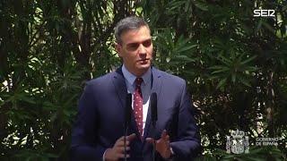 """Pedro Sánchez: """"Me complace ver cómo el actual jefe del Estado está comprometido con la transpare…"""