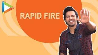 Varun Dhawan's MOST EPIC RAPID FIRE   Salman   SRK   Alia   Anushka   The Rock   Sui Dhaaga