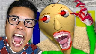 ESCAPE CRAZY TEACHER AT SCHOOL (Baldi's Basics Game)