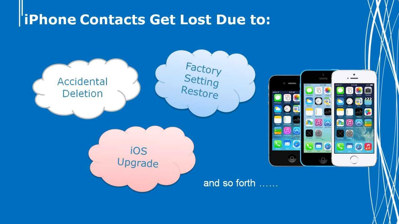 how to get contacts back on iphone how to get back lost contacts on your iphone 20077