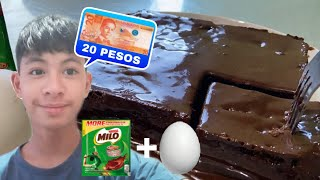 """HOW TO COOK MILO CAKE """"NO-BAKE NOT STEAM"""" FOR ONLY 20 PESOS 