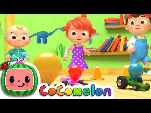 Toy Balloon Car Race | Nursery Rhymes & Kids Songs - ABCkidTV