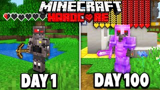 I Survived 100 Days in HARDCORE Minecraft..