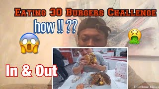 | I Cant Believe This 😱| Attempting To Eat 30 Burgers at IN N OUT.. Reaction !!!