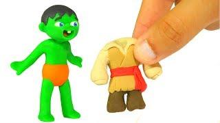 SUPERHERO BABIES FUNNY COSTUMES ❤ Superhero Babies Play Doh Cartoons For Kids