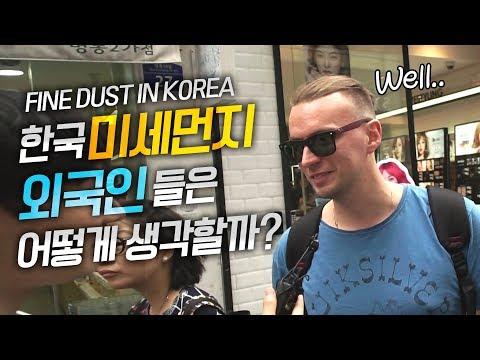 한국 미세먼지 해외반응 외국인들은 어떻게 생각할까? 그들의 충격 인터뷰, 외국인 반응
