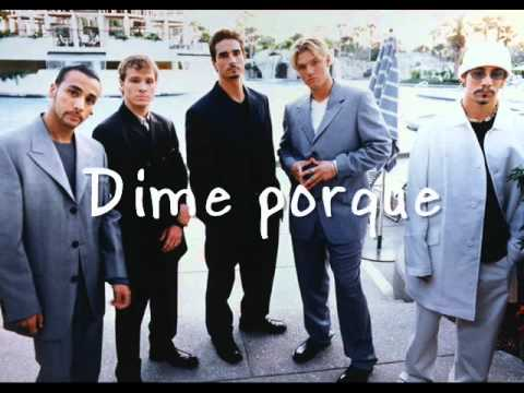 Backstreet Boys I want it that way (traducida al español)
