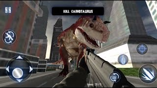 ► T Rex Dinosaur City Hunter Rocket Launcher Game - Dino City Hunter Deadly Shores Android Gameplay