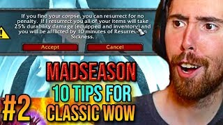 Asmongold Reacts To 10 Tips & Tricks For Classic WoW (Episode 2) - MadSeasonShow