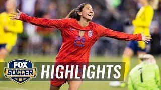 90 in 90: United States vs. Sweden   2019 Women's International Friendly Highlights