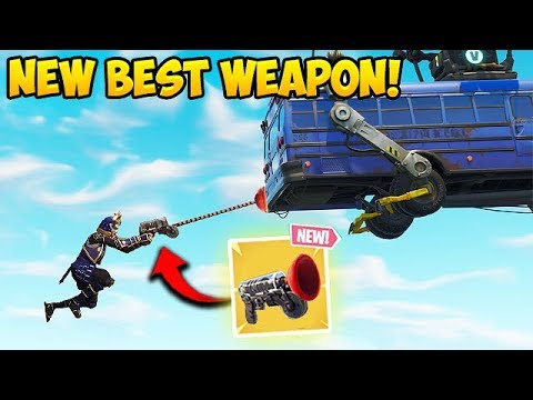 *NEW* GRAPPLER GUN BEST PLAYS! - Fortnite Funny Fails and WTF Moments! #313