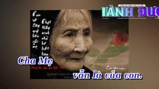 Nỗi Lòng Của Con Remix Karaoke - Trách Ai Vô Tình Chế -  Lâm Chấn Khang