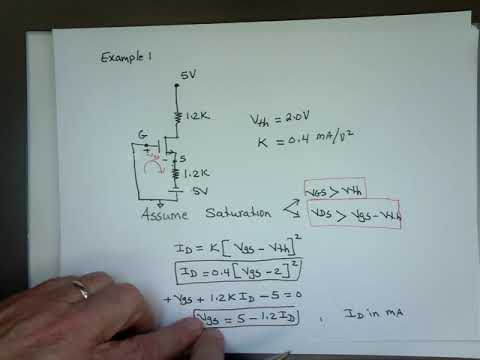 How to solve a MOSFET circuit