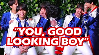 BTS telling Taehyung how Handsome he is, over ... and over again ...