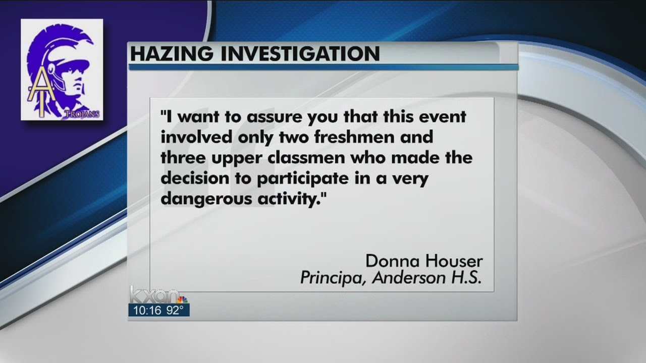 Students Disciplined In Anderson HS Hazing Incident - Smashpipe Entertainment