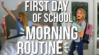 First Day Of School Morning Routine | tips for getting ready on the first day of school