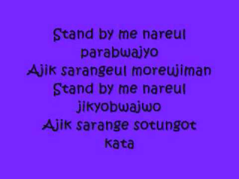 Stand By Me with lyrics by SHINee