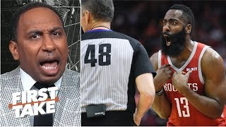 'I don't want to hear that now!' – Stephen A. rips Rockets for complaining about refs | First Take