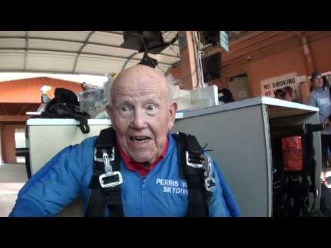 100-Year-Old Man's Pre-Skydive Interview
