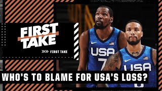 Who is most to blame for Team USA's loss vs. France at the Tokyo Olympics? | First Take