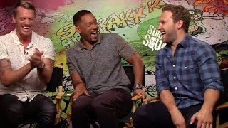 Suicide Squad: Joel Kinnaman, Will Smith and Jai Courtney crack up during interview
