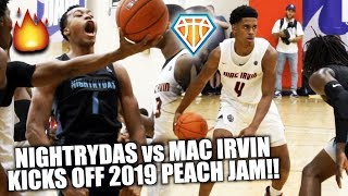 Scottie Barnes vs Adam Miller WAS LIT!! | Nightrydas & Mac Irvin Kick Off Peach Jam w/ EPIC SHOWDOWN