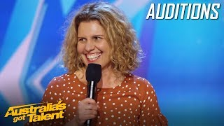 HILARIOUS Mother Takes on Stand Up Comedy | Auditions | Australia's Got Talent