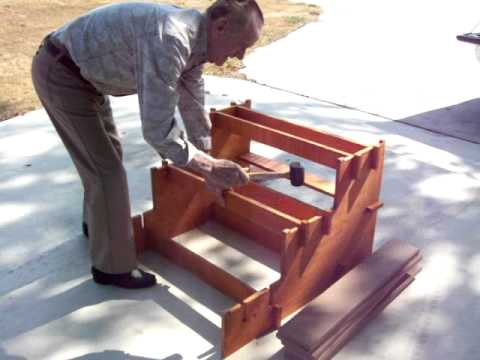 Quick Set Up Wood Rv Steps Youtube