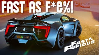 The FASTEST Cars in The Fast And Furious Franchise