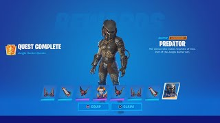 TIPS TO DEFEAT PREDATOR (How To EASILY Unlock The Predator Skin In Fortnite)