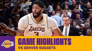 HIGHLIGHTS | Anthony Davis (25 pts, 10 reb) vs  Denver Nuggets