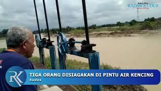 AKHIRNYA!!! Pintu Air Tanggulangin Kudus Dibuka agar Banjir Surut
