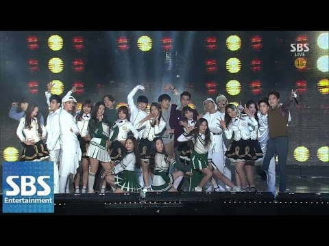 Super Rookie(GOT7, 레드벨벳, 러블리즈, WINNER) - Moves Like Jagger @2014 SBS 가요대전 SUPER5 1부
