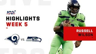 Russell Wilson Stuns w/ 4-TD Night! | NFL 2019 Highlights