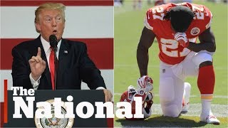 Trump bashes NFL players as protests grow | 'This has nothing to do with race'