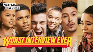On My Block Cast Prank Each Other   Worst Interview Ever