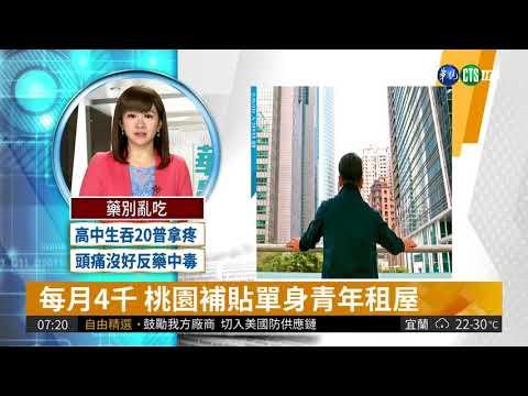 每月4千 桃園補貼單身青年租屋| 華視新聞 20180412