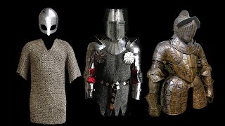 Evolution of Armour through the Middle Ages.