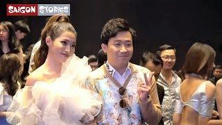 """Trấn Thành bị """"bao vây"""", Minh Hằng, Ngô Thanh Vân bất ngờ xuất hiện tại Fashion show của Xuân Lan"""
