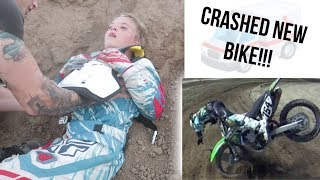 ROCCO CRASHES DIRT BIKE ALREADY