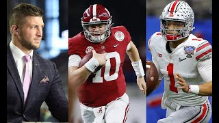 Tim Tebow, Roman Harper, and Jordan Rogers preview Alabama vs. Ohio State   CFB Title Game