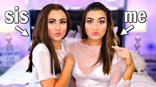 Transforming my SISTER into ME! Twin Makeup Challenge!